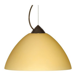 Besa Lighting - Besa 1KX-4202VM Porto Pendant - 1KX-4202VM-BR - Shop for Pendants from Hayneedle.com! About Besa Lighting Co Inc.Besa Lighting Co Inc. was founded in 1986 when Entrpreneur Richard E. Cash started selling handcrafted lighting products imported from Hermer Glas in Germany. As years passed styles and consumer desires began to change and so did the company. Besa Lighting relocated their headquarters from Los Angeles California to Columbus Ohio in 1994 and the company began to take off. They started importing glass from additional suppliers in Poland Turkey and Germany. Their hand-blown designs consist of LED pendants spotlights and sconces along with 4-pin compact fluorescent and spiral-style self-ballasted compact fluorescent in almost every product type Besa creates. Besa Lighting's intent is to always produce high-quality products at a suitable price. Remaining committed to the customer Besa Lighting Co Inc. is a loyal company you can count on.