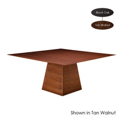 Nuevo Living - Chloe Dining Table, Black Oak/Large - Bring the drama of this geometric table to your home and every meal will feel like performance art. The distinctive design, enhanced by American walnut veneer, makes a fabulous focal point for your dining space.