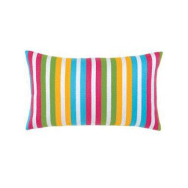 """New Elaine Smith Pillows - Elaine Smith Pillows Rio De Janeiro Tropicana Stripe - 12"""" x 20"""" - Elaine Smith Pillows"""