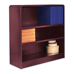 Alera - Alera BCR33636MY Aleradius Corner Wood Veneer Bookcase - Mahogany Brown - ALEBCR - Shop for Bookcases from Hayneedle.com! About AleraWith the goal of meeting the needs of all offices -- big or small casual or serious -- Alera offers an excellent line of furnishings that you'll love to see Monday through Friday. Alera is committed to quality innovative design precision styling and premium ergonomics ensuring consistent satisfaction.