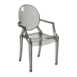 iMax - iMax Isadora Grey Transparent Arm Chair X-12598 - Featuring a modern and funky design concept, this trend-setting stylish chair incorporates a cutting edge grey transparent acrylic design that transitions well in a variety of d�_cor.