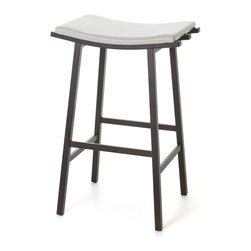 Amisco - Amisco Nathan Non Swivel Backless Stool 40033, 03 Black, 26 Inches, 18 Eggshell - *Non swivel seat