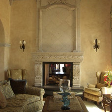 Traditional Indoor Fireplaces by Visionmakers Custom Stone & Iron Doors