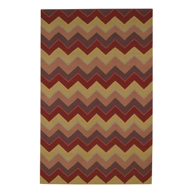 Irish Stitch rug in Berry Khaki - Fine flat-woven antique kelim construction composed of 50% India Chokla wool and 50% blended wool for superior durability.