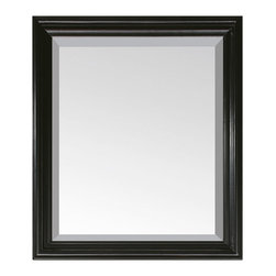 "Avanity - MILANO Mirror - 30"" Black - MILANO Mirror - 30"" Black; Birch solid wood in Espresso finish; Beveled mirror; Wood base shelf; Hangs Vertical; Wood cleat at back for easy hanging; Dimensions: 30W x 26H inches"