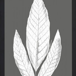 Wendover Art - Charcoal Leaves Print - This striking Giclee on Paper print adds subtle style to any space. A beautifully framed piece of art has a huge impact on a room for relatively low cost! Many designers and home owners select art first and plan decor around it or you can add artwork to your space as a finishing touch. This spectacular print really draws your eye and can create a focal point over a piece of furniture or above a mantel. Each unique art piece is printed & manufactured in the USA. Please allow 4 weeks for delivery as each piece is printed to order & requires careful handling. In a large room or on a large wall, combine multiple works of art to in the same style or color range to create a cohesive and stylish space!