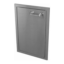 """HBI - Hasty-Bake 18"""" Stainless Steel Deluxe Single Access Door (18X26SD-DLX) - These doors feature double-lined construction, all Stainless 304 grade material, 3 way adjustable cabinet hinges, and polished chrome handles. Raised bezel compliments the look of other top quality appliances installed in your outdoor kitchen. Available in numerous sizes.  Features:"""