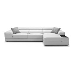 Bergamo White Sectional Leather Sofa - Bergamo White Sectional Leather Sofa has an air of unassuming elegance and adds sophistication to any room. In order to deliver these ideals we chose to create a sofa that has mix and match qualities to it. Depending on the size of your area you can add or subtract pieces to reach the ideal piece of furniture.