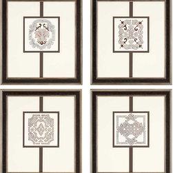 Paragon Decor - Sassy Neutrals Set of 4 Artwork - Exclusive Mixed Media on Paper