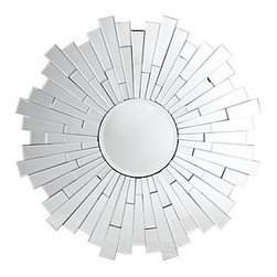 Z Gallerie - Empire Mirror - Almost 100 individual beveled mirrors of varying dimensions both in size and projection create the striking design of our Empire mirror. At 47 inches in diameter this impressive piece will not only reflect but infuse style wherever it is hung.