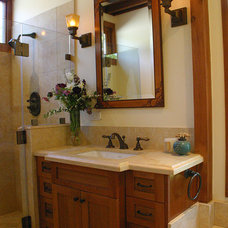 Traditional Bathroom by Shannon White Design