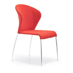 ZUO MODERN - Oulu Chair Tangerine Fabric (set of 2) - Oulu Chair Tangerine Fabric