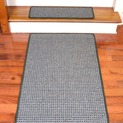 "Dean Flooring Company - Washable Non-Skid Carpet Stair Treads - Chameleon (13) PLUS a Matching 5' Runner - Washable Non-Skid Carpet Stair Treads - Chameleon (13) PLUS a Matching 5' Runner : Washable Non-Skid Carpet Stair Treads PLUS a Matching 5' Runner by Dean Flooring Company Color: Chameleon (Green and Grey) Face: 100% Polypropylene. Backing: Washable Non-Skid Latex Rubber. Edges: Finished (Serged) with Color Matching Yarn. Set includes 13 pieces PLUS a Matching 5' Runner. Each tread measures approximately 27"" x 9"". Wash on delicate in cold water, line dry. Also easy to spot clean and vacuum. Helps prevent slips on your hardwood stairs. Great for helping your dog easily navigate your slippery staircase. Reduces noise. Reduces wear and tear on your hardwood stairs. Attractive: adds a fresh new look to your staircase. Easy DIY installation with double sided carpet tape (not included). High quality enhanced textured loop patterned 21 oz. stain resistant carpeting. Add a touch of warmth and style to your home today with stair treads from Dean Flooring Company!"