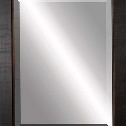 Paragon Decor - Beveled Mirror, Contemporary Flat Dark Wood, 30x40 - Mirror, Mirror, on the wall, who's the most beautiful mirror of them all? Reflect your impeccable taste with this contemporary-style mirror, which features a gorgeous flat dark wood frame and high-quality interior beveled mirror. This piece measures 37 inches wide, 1 inch deep, and 47 inches high.