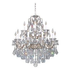 Schonbek Lighting - Schonbek Lighting 5075-48H La Scala Antique Silver 15 Light Chandelier - 15 Bulbs, Bulb Type: 60 Watt Incandescent; Product made-to-order, 6-8 week lead time