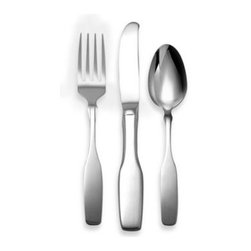 Oneida - Oneida Paul Revere 3-Piece Children's Flatware Set - This 18/10 stainless steel flatware set is crafted with a smooth, muted polish and sized just right for little hands.