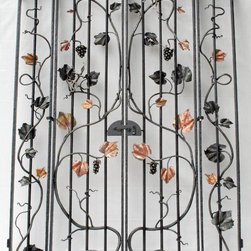 Functional Metal Art, Wrought iron - Hand forged wine cellar gate.  Earth Eagle Forge
