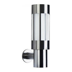 """Albert - Albert Outdoor wall sconce - 38/690239 - Product Details:    The outdoor wall sconce 38/690239 by Albert has been designed and made in Germany.  This Top of the line outdoor wall sconce features a Premium brushed stainless steel finish with a blown opaline glass.   Lighting fixtures by Albert Quality feature a Top quality.  Albert only uses selected materials, which also stand firm against the increased pressure on the environment. For example aluminium, brass, stainless steel, synthetic resin varnish, silicate-, acrylic- and impact-resistant glasses. Albert products are checked by their highly-qualified stuff. This is the guarantee for their national and international customers, wholesalers and communities to buy high albert-quality. Components which are not produced by Albert like glasses, synthetic materials and electronic components are delivered from well-known German and European companies.                                     Manufacturer:                                      Albert                                                      Designer:                                     In house design                                                     Made in:                                      Germany                                                     Dimensions:                                     Height: 14"""" (35.5 cm) X Diameter: 4.06"""" (10.3 cm) X Projection: 6.6"""" (17 cm) Diameter back plate: 3.15"""" (8cm)                                                     Lighting:                                      1 X max. 75W Medium Base Incandescent                                                             Materials:                                      stainless steel , blown glass"""