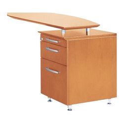 Mayline - Mayline Napoli Pencil Box File Pedestal for Return-Mahogany Veneer - Mayline - Filing Cabinets - NBFPMAH - The Mayline Napoli Series combines clean modern lines with stylish accents and a wide selection of storage options.  Curved desk surfaces merge together to define your space with elegance and efficiency.  Napoli is hand-crafted with AA-grade North American select wood veneers using a 14-sstep finishing process to ensure uncompromised quality and consistent beauty.  The Napoli Series features Italian-influenced sophisticated styling.  Napoli not only looks great but it's extremely functional and affordable as well.  Whether on a grand or modest scale Napoli fits comfortably into even small or home offices.  With just the right proportion balancing performance and style Napoli brings out your best.