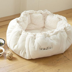 Sherpa Cat Bed - This snuggly sherpa bed would be loved by cats and little dogs alike.