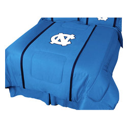 Sports Coverage Inc - NCAA North Carolina Tarheels Queen Comforter College MVP Bed - FEATURES: