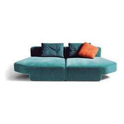 Phoenix Daybeds - These two chaises are designed to be pushed together to form a comfortable bed. It's kind of a cool concept. No old-fashioned opening up this or that. I suppose you could also keep them apart and use them as two separate beds.