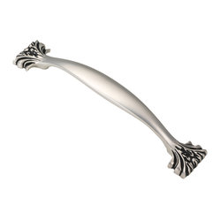 Ithica Satin Antique Silver Cabinet Pull
