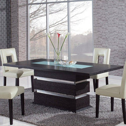 Global Furniture - G072DT Dining Table - Wenge - G072DT Dining Table - Wenge