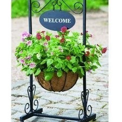 Gardman USA - Blacksmith Welcome Planter - Blacksmith Welcome Planter is an attractive planter that looks good on a patio porch or pathway. Self assembly with the minimum of assembly time required