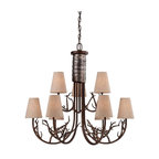 Savoy House - Brambles Nine Light Two Tier ChandelierHeartland Whimsical Collection - Pierce Paxton mixes the organic and the dramatic with the Brambles collection .