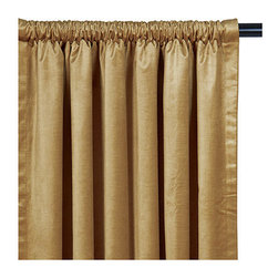 Frontgate - Lucerne Rod Pocket Curtain Panel - From Eastern Accents. Because this product is specially made to order, please allow 4-6 weeks for delivery. Dry clean only recommended. The Lucerne Solid Velvet Bedding Collection is lush and decadent. Seven vibrant colors comprise this grand collection, featuring quilted velvet coverlets and bed skirts in ruffled and pleated styles, as well as a luxurious array of coordinating accessories.  . .  . Made in Italy. Part of the Lucerne Solid Velvet Bedding Collection.
