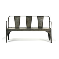 Zentique - Zentique Adrienne Iron Chair - Width (in)- 60Height (in)- 34Depth (in)- 20Seat Height (in)- 19