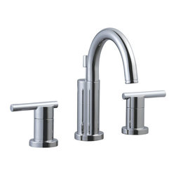 Design House - Design House 525741 Polished Chrome Geneva Double Handle Widespread - Geneva Widespread Lavatory FaucetContemporary Styling Give This Faucet A Desirable Look In Your Modern Bathroom Design.Ceramic Disc Cartridge50-50 Popup Is IncludedAb-1953 Compliance