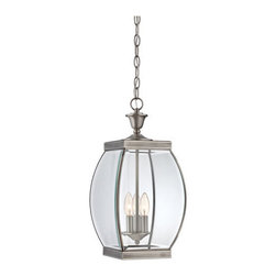 Quoizel Lighting - Quoizel OAS1909P Oasis 3 Light Outdoor Pendant/Chandelier, Pewter - This 3 light Outdoor Hanging Lantern from the Oasis collection by Quoizel will enhance your home with a perfect mix of form and function. The features include a Pewter finish applied by experts. This item qualifies for free shipping!
