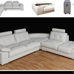 Zenit - This contempoary sofa can give you just about any look you want as long as it's modern. Built with sleek lines and comfort in mind, this sofa can be configured for any room. This sofa also features removable headrests and hideaway tables.