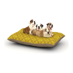 "Kess InHouse - Mydeas ""Dotted Plaid"" Geometric Yellow Fleece Dog Bed (30"" x 40"") - Pets deserve to be as comfortable as their humans! These dog beds not only give your pet the utmost comfort with their fleece cozy top but they match your house and decor! Kess Inhouse gives your pet some style by adding vivaciously artistic work onto their favorite place to lay, their bed! What's the best part? These are totally machine washable, just unzip the cover and throw it in the washing machine!"