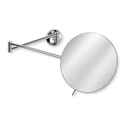 WS Bath Collections - Mirror Pure Mevedo Twistable Wall-Mount Magni - Solid Brass Construction. Made by Lineabeta of Italy. Finish/Color: Polished Chrome. Dimensions: 7.3 in. Diameter