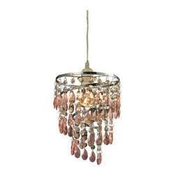 Sterling Industries - Sterling Industries 144-022 Forres 1 Light Pendants in Pink And Clear - Forres-Pink And Clear Mini Pendant