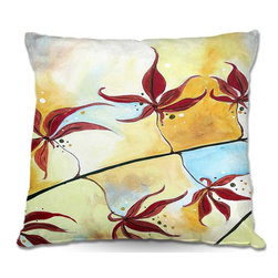DiaNoche Designs - Pillow Woven Poplin - Hillary Doggart-Greers Fall Leaves I - Toss this decorative pillow on any bed, sofa or chair, and add personality to your chic and stylish decor. Lay your head against your new art and relax! Made of woven Poly-Poplin.  Includes a cushy supportive pillow insert, zipped inside. Dye Sublimation printing adheres the ink to the material for long life and durability. Double Sided Print, Machine Washable, Product may vary slightly from image.
