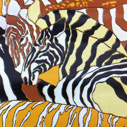Vintage Wallpaper, African Safari Animals by Vintage Baron - This vintage zebra safari wallpaper is available on Etsy.