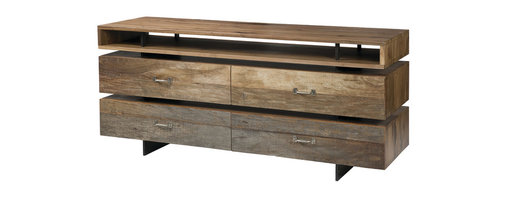 Four Hands - Sydney Dresser - The bedroom dresser — deconstructed and reinvented for your modern home. Hand-crafted of sustainably harvested walnut, its clever use of space is balanced by sleek lines and solid functionality, so as never to appear dated.
