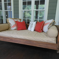 Avari Swing Bed from Vintage Porch Swings - Charleston SC - This swing looks inviting on a screen porch... welcoming on a porch....