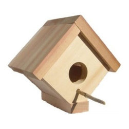 All Things Cedar Birdhouse - 5W in. - Give your feathered friends a beautiful and safe home with the All Things Cedar Birdhouse - 5W in.. Beautifully crafted, this birdhouse is made from clear grade Western Red Cedar which is naturally resistant to rot, insects, and decay, making it the perfect home for your favorite birds for years to come. The ideal size for wrens and other small birds, this birdhouse is handcrafted which gives you snug fitting joinery designed to last. Routed edges add clean lines and uniform appearance while the hardware is rust resistance, giving you years of beauty. Its finely sanded finish can be left unfinished and allowed to age naturally and beautifully, or you can pain or finish the wood to match your patio decor. You and your kids will love spending time watching the many birds that will call this birdhouse home. Additional Features Features hardwood doweling and pre-drilled holes Routed edges for clean lines, uniform appearance Beautiful, finely sanded finish Rust-resistant hardware Naturally resistant to rot, insects, and decayAbout All Things Cedar A world leader in fine patio furniture, garden furniture, and other accessories, All Things Cedar is a smart choice for your outdoor needs. They offer an extensive line of unique items made from high-quality, weather-resistant woods, including clear-grade cedar, teak, and more. Their items are designed with care in timeless fashions that are sure to enhance your space. All Things Cedar prides themselves on fine customer service and dependable products.