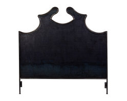 Tara Shaw Maison Louis XV Iron Headboard, Queen - I am in love with the graphic silhouette of this headboard! It's such an amazing way to make a statement. Obviously pair this with a light-colored wall to get the full effect.