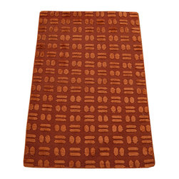1800GetARug - Oriental Rug Wool and Silk Embossed Raised Mat Hand Knotted Rug Sh12295 - About Modern & Contemporary