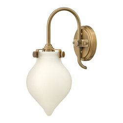 Hinkley Lighting - Hinkley Lighting 3172BC Congress 1 Light Wall Sconces in Brushed Caramel - Congress is a traditional design that combines both hip and historical elements. This chic retro glass, mix and match collection comes in different shapes, colors and materials and is the perfect vintage accent to any d�cor.