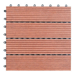 None - Bamboo 12-inch Floor Tiles (Pack of 11) - Add a stylish touch to your home decor with these bamboo floor tiles. A pack of eleven finish this set of 12-inch tiles.