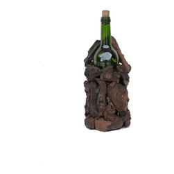 Groovystuff - Groovystuff Drifter Bottle Stand in Chocolate Lacquer - Features:
