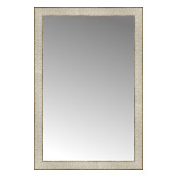 """Posters 2 Prints, LLC - 21"""" x 31"""" Libretto Antique Silver Custom Framed Mirror - 21"""" x 31"""" Custom Framed Mirror made by Posters 2 Prints. Standard glass with unrivaled selection of crafted mirror frames.  Protected with category II safety backing to keep glass fragments together should the mirror be accidentally broken.  Safe arrival guaranteed.  Made in the United States of America"""