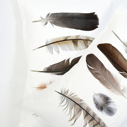 Feather Collection Pillowcase Set - Take the feathers out of the inside of your pillow and add them to the top. Won't this help lighten your sleep?